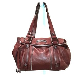 B. MAKOWSKY BUTTERY SOFT BROWN LEATHER HOBO BAG